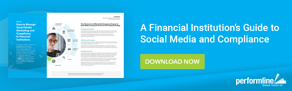 Financial Institutions Social Media Compliance