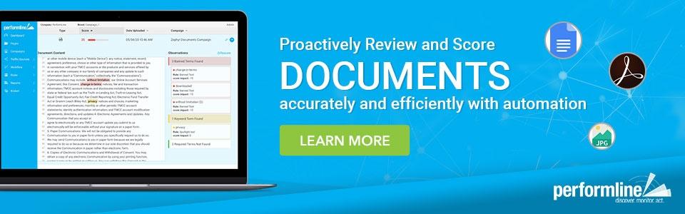 document scoring risk management performline