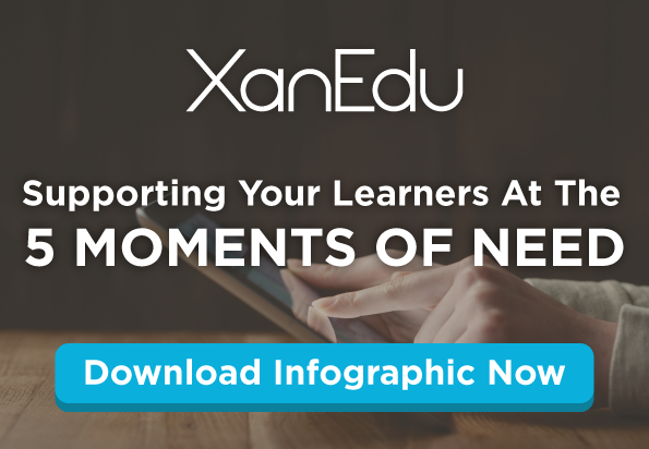 Support Your Learners at the 5 Moments of need - Infographic offer