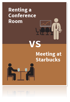 Renting a Conference Room vs Meeting at Starbucks