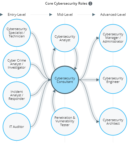 Click here to see an interactive pathway for cybersecurity professions