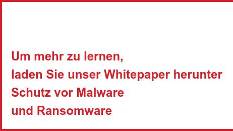 Um mehr zu lernen, laden Sie unser Whitepaper herunter Schutz vor Malware und Ransomware