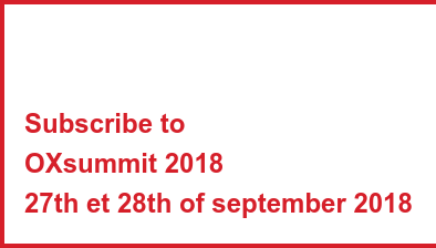 Subscribe to OXsummit 2018 27th et 28th of september 2018