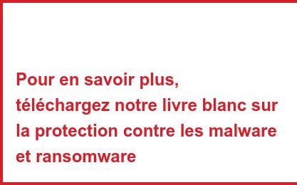 Pour en savoir plus, téléchargez notre livre blanc sur la protection contre les malware et ransomware