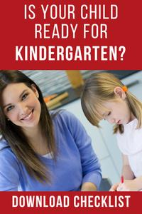 Download Checklist: Kindergarten Readiness
