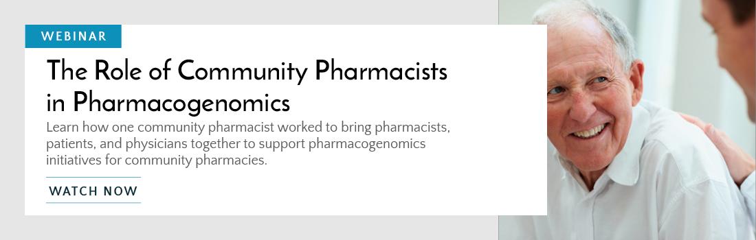 Community Pharmacists in PGx Webinar