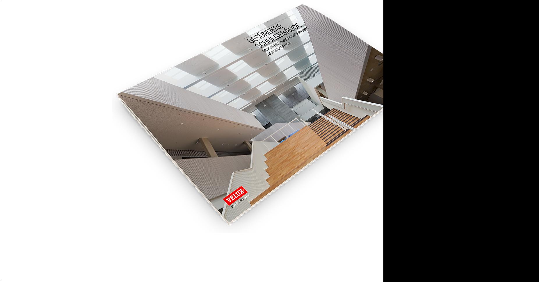 Grossartig designte Schulgebäude  Laden Sie das Referenzbuch herunter, das anhand von acht bereits realisierten  Projekten zeigt, wie Architekten mit VELUX Modular Skylights gesündere und  hellere Schulen entwerfen können. Referenzbuch herunterladen