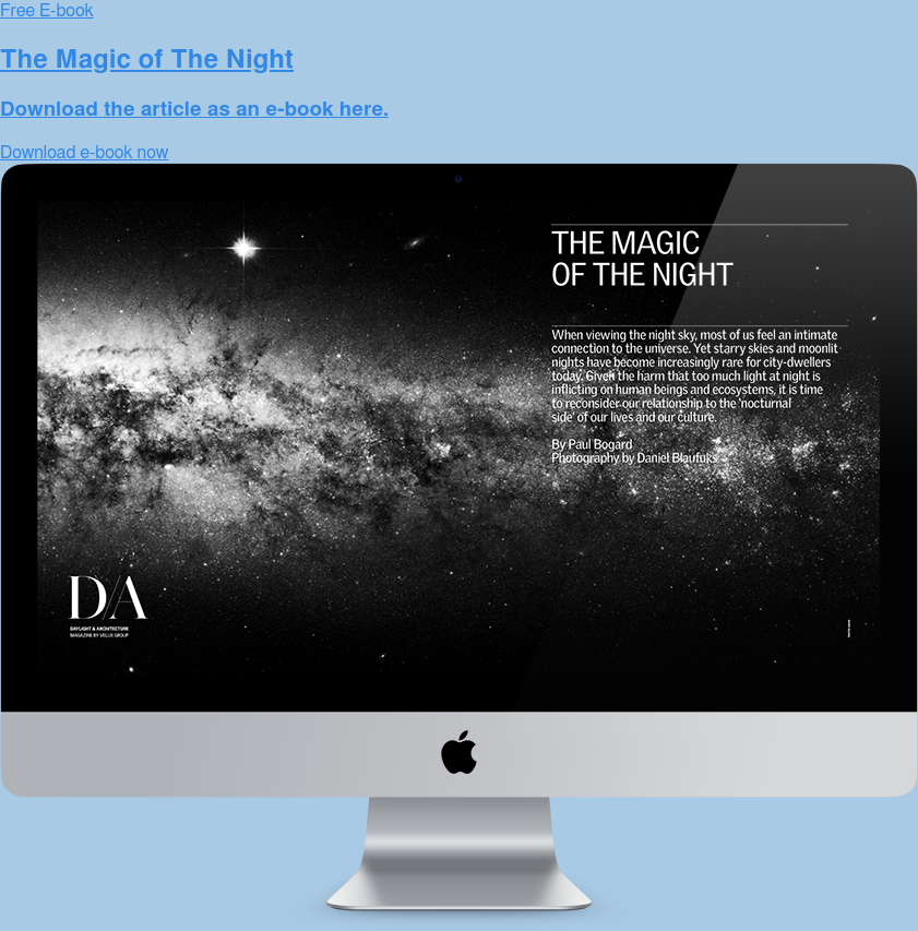 Free E-book  The Magic of The Night  Download the article as an e-book here. Download e-book now