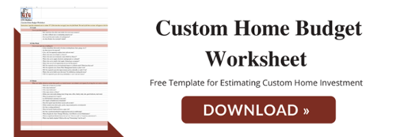 FREE Custom Home Budget Worksheet