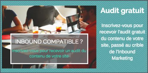 Inscrivez-vous pour un audit gratuit du contenu de votre site web