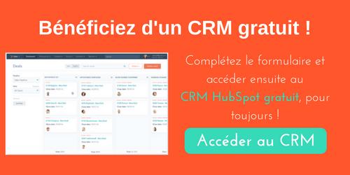 Accédez au CRM gratuit HubSpot