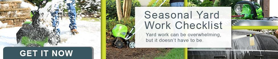 Seasonal Yard Work Checklist
