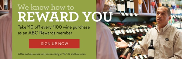 Become a rewards member with ABC Fine Wine & Spirits