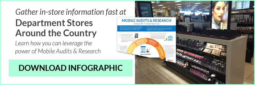 Gather in-store information fast at department stores around the conntry. Learn how you can leverage the power of mobile audits and research