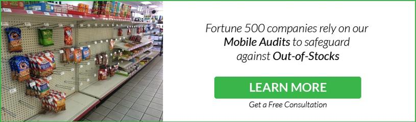 Fortune 500 companies rely on our Mobile Audits to safeguard against Out-of-Stocks - Sign up now