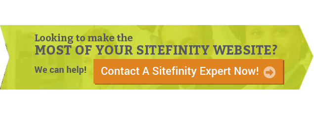 Contact A Sitefinity Expert Today!