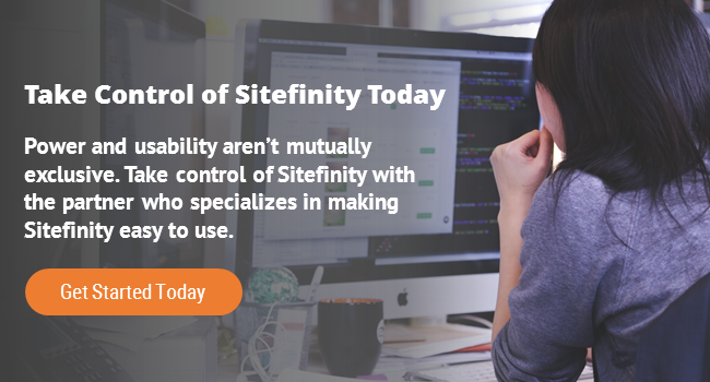Take Control of Sitefinity