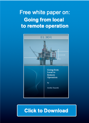 Going from local to remote operation of offshore installations using digitalisation