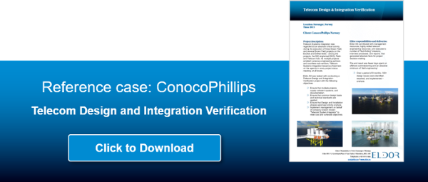 Click to download reference case: ConocoPhillips Telecom design and Integration verification from Eldor