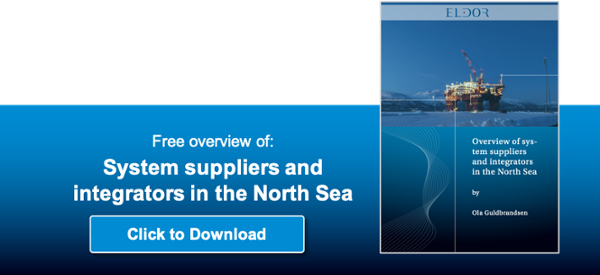 Overview of system suppliers operating in the North Sea Oil ang Gas - control and safety systems