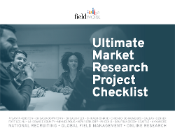 Click here to download Fieldwork's Ultimate Market Research Project Checklist!