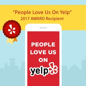 People Love Us On Yelp - 2017 Award Recipient