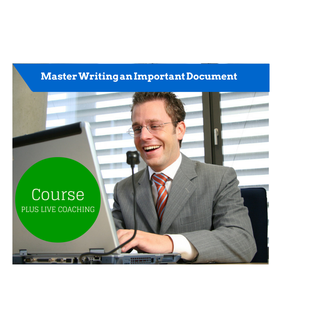 Master Writing an Important Document Image