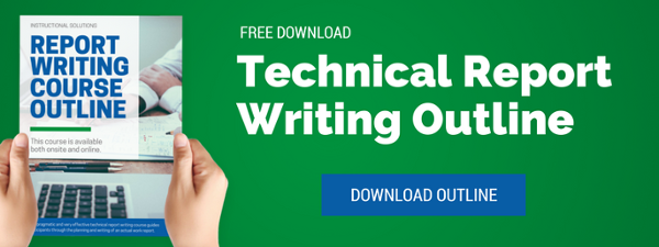 click to download technical report writing course outline