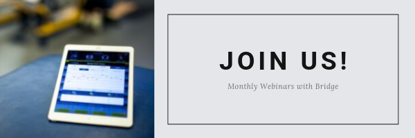 BridgeAthletic Monthly Webinars