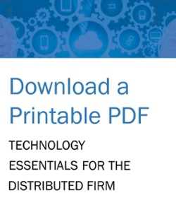 Technology Essentials for the Distributed Firm