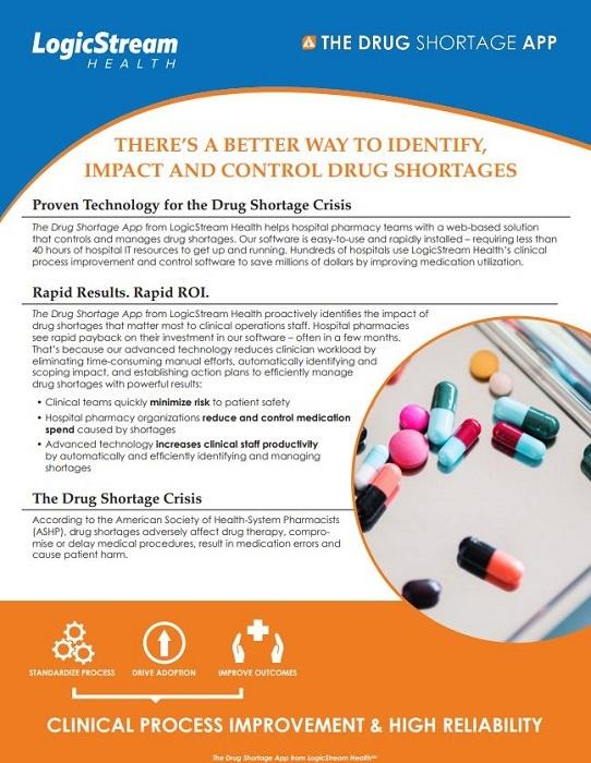 Drug Shortage Overview Sample