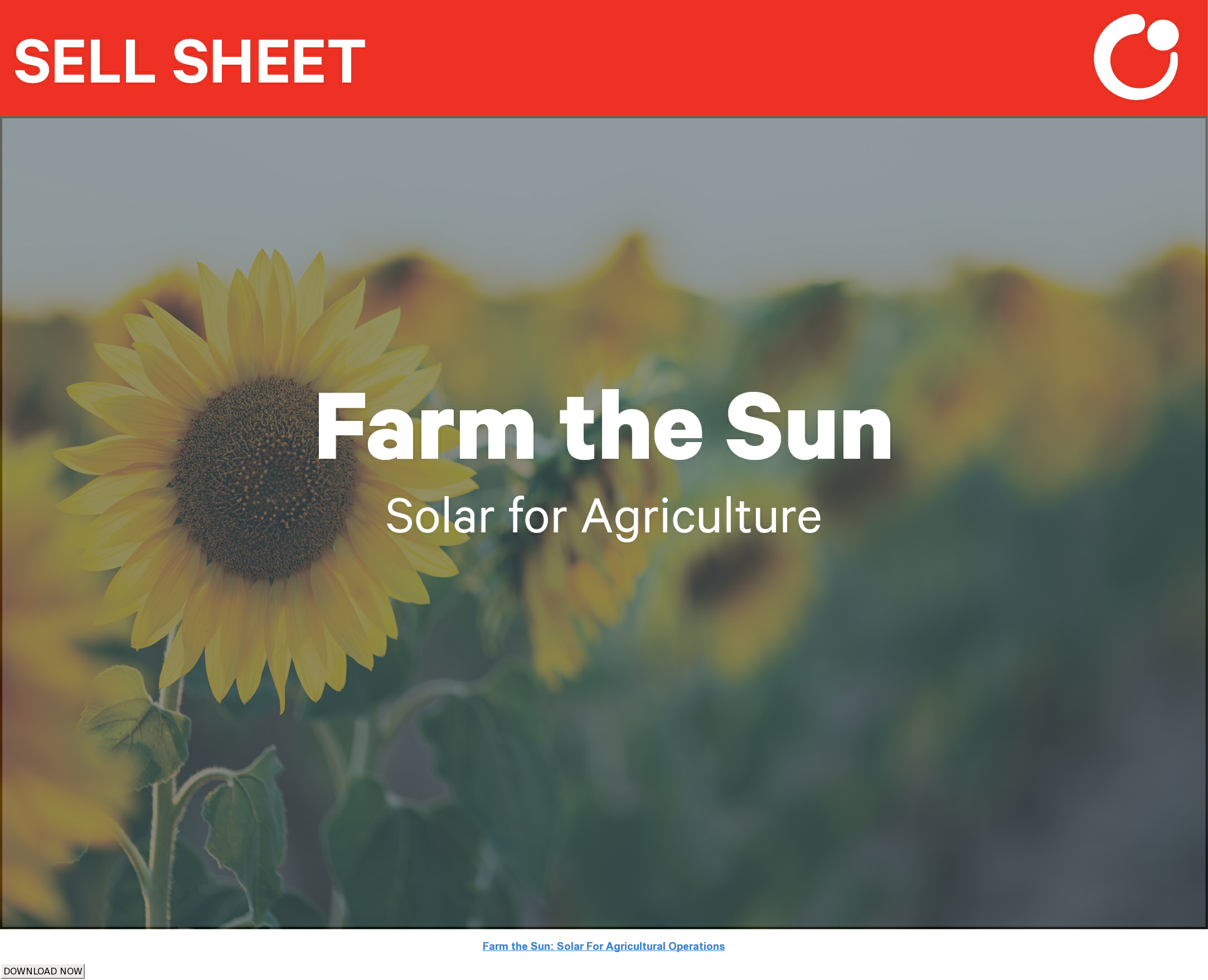 Farm the Sun: Solar For Agricultural Operations DOWNLOAD NOW
