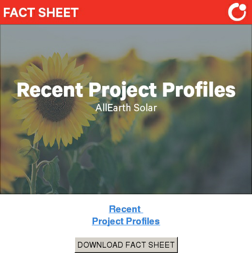 Recent  Project Profiles DOWNLOAD FACT SHEET