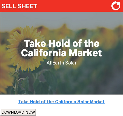 Take Hold of the California Solar Market DOWNLOAD NOW