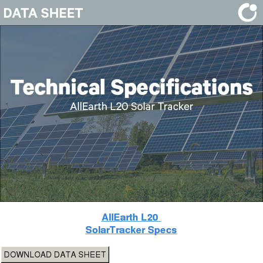 AllEarth L20  SolarTracker Specs DOWNLOAD DATA SHEET