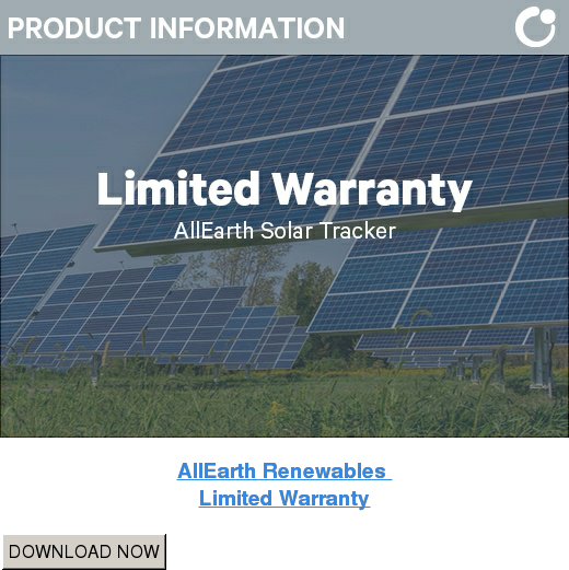 AllEarth Renewables  Limited Warranty DOWNLOAD NOW