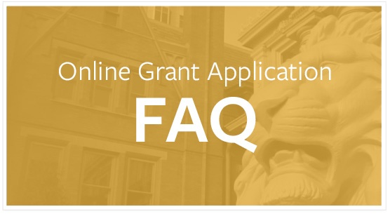 Online Grant Application FAQ