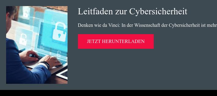 Leitfaden zur Cybersicherheit Denken wie da Vinci: In der Wissenschaft der  Cybersicherheit ist mehr Kunst gefragt jetzt herunterladen