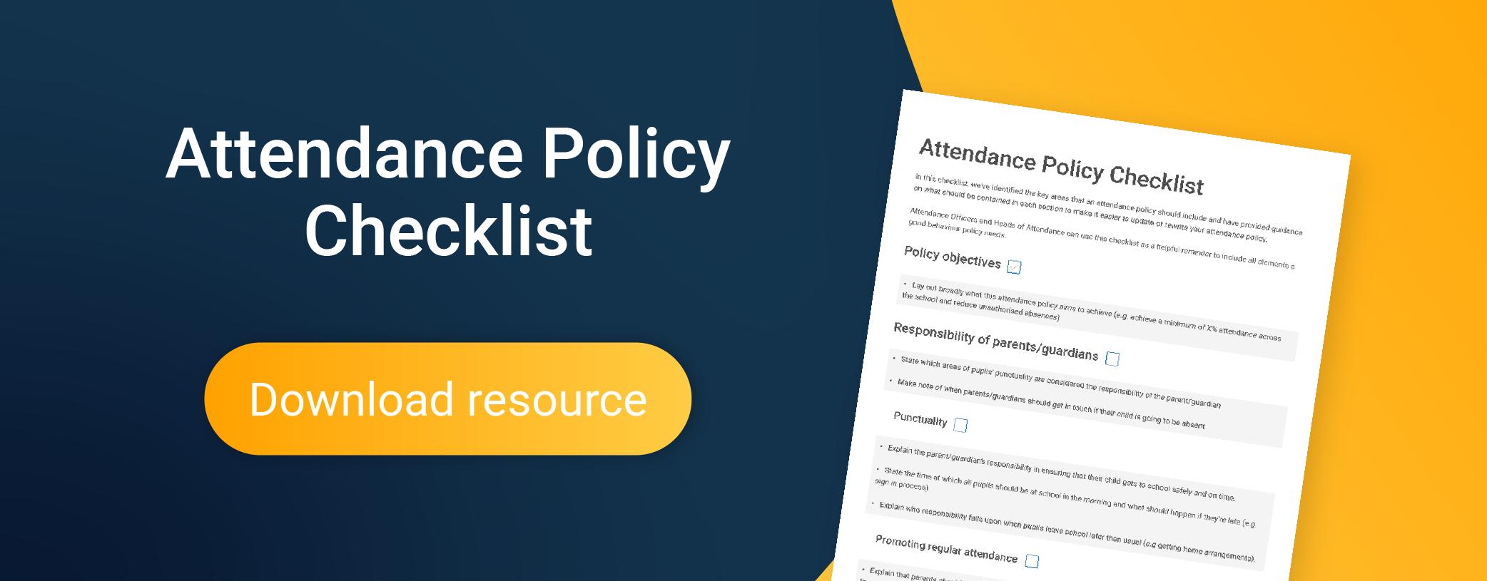 Attendance policy checklist download