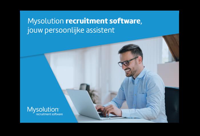 Brochure recruitmentsoftware van Mysolution. Download hier!