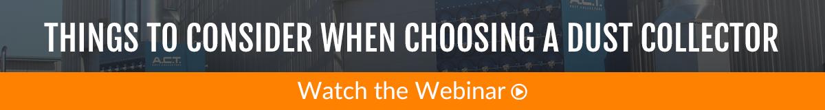 Choosing a Dust Collector Webinar