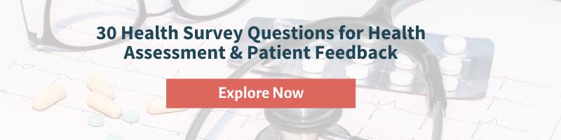 Health Survey Questions for Patients