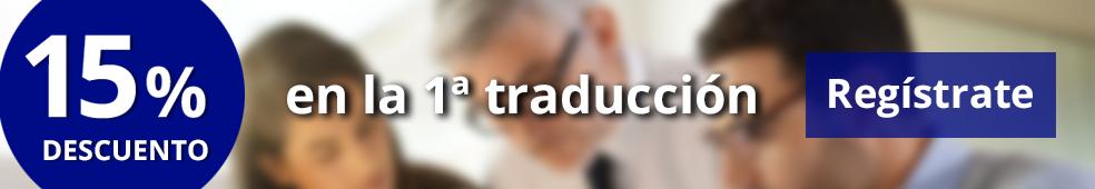 Descuento en traducción de documentos