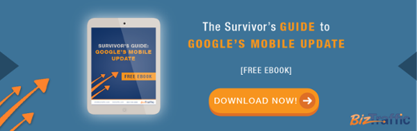 Google's Mobile Update Horizontal CTA