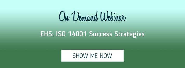 Learn success strategies for ISO 14001