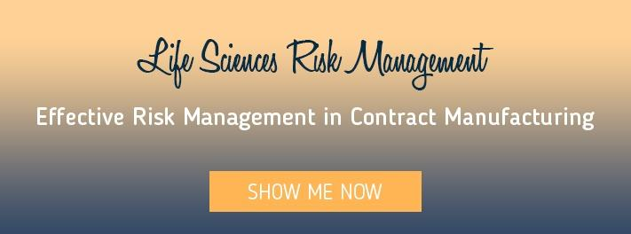 Effective risk management in contract manufacturing