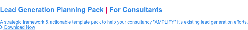 """Lead Generation Planning Pack 