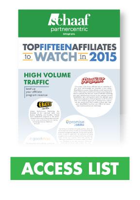 Top 15 Affiliates List