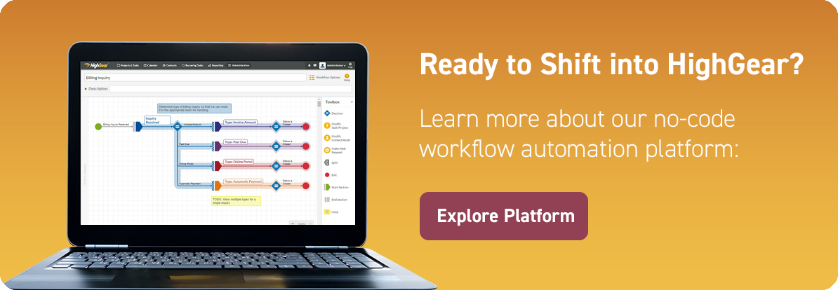 HighGear No-Code Workflow Automation Platform