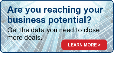 Are you reaching your business potential? Get the data you need to close more deals. LEARN MORE >